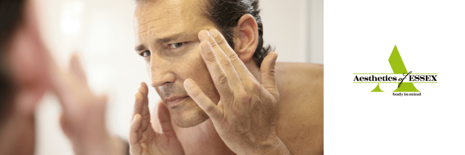 Man considering non-surgical cosmetic treatments